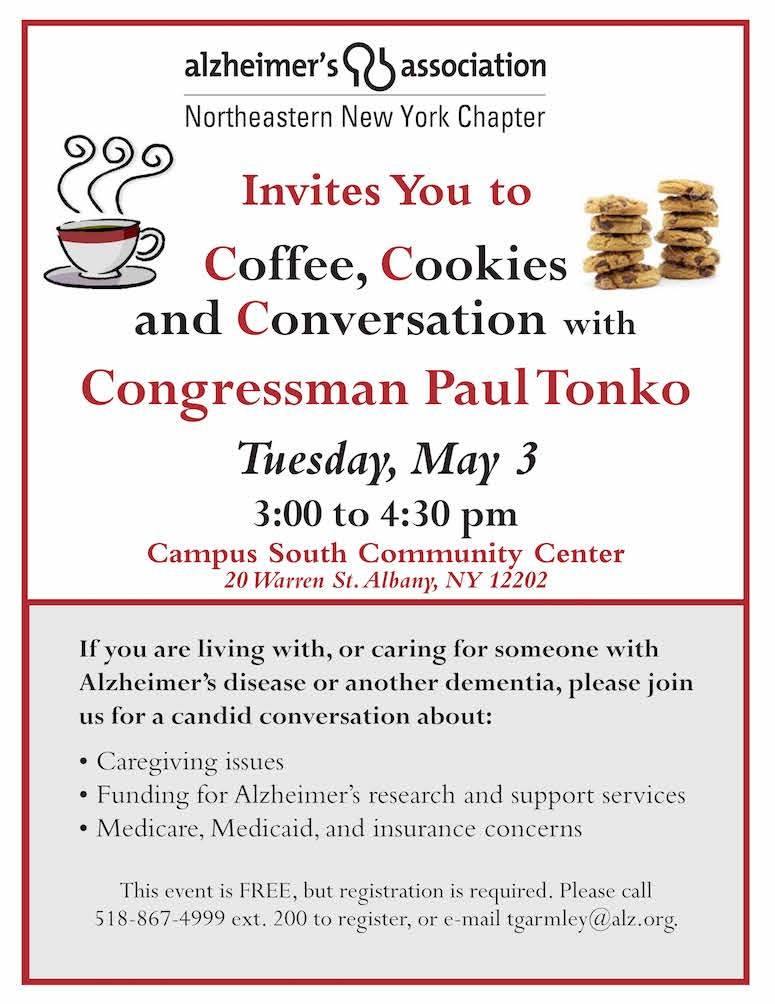 Invitation for caregivers albany elder law attorney burke cookies conversation with congressman paul tonko stopboris Choice Image